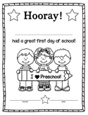 First Day of School Certificate/Award