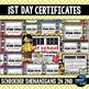 Back to School certificates - editable awards
