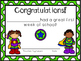 First Day of School Certificates