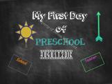 First Day of School Chalkboard