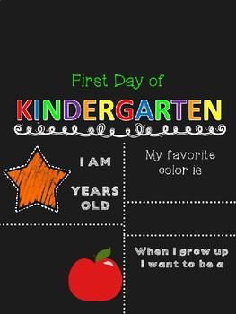 First Day of School Chalkboard Sign EDITABLE Preschool-12th grade