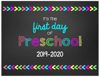 first day of school chalkboard signs bundle preschool 8th grade