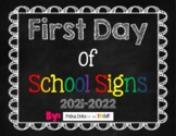 First Day of School Chalkboard Signs (Pre-K through 12th Grade)