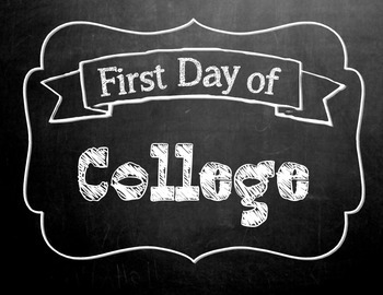 First Day of School Chalkboard sign