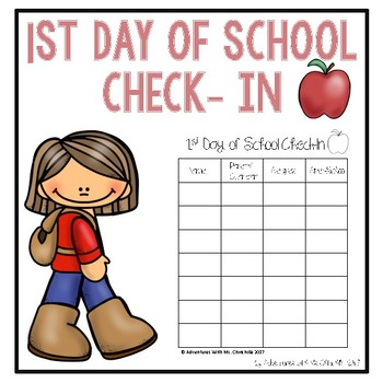 First Day of School Check-In