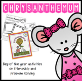 "First Day of School ""Chrysanthemum"" Problems and Worries Activity"