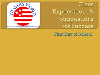 Student Expectations and Suggestions for Success - Classro