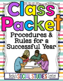 Back to School: First Day Class Packet (Syllabus Template) - Rules & Procedures