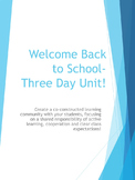 First Days of School Classroom Management Unit