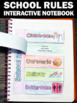 Classroom Rules Activity, Back to School Interactive Notebook 1st Day of School