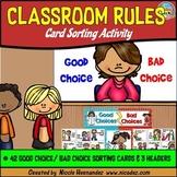 Classroom Rules Sorting Activity (Good Choice Bad Choice)