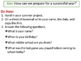 First Day of School: Classroom Rules and Ice Breaker