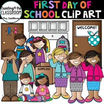 First Day of School Clip Art {School Clip Art}