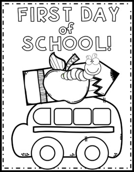 First Day of School Color Page {Texas Twist Scribbles} by ...