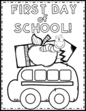 First Day of School Color Page {Texas Twist Scribbles}