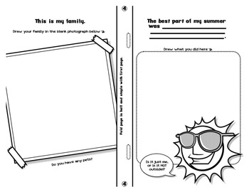 First Day of School Coloring Booklet: All About Me