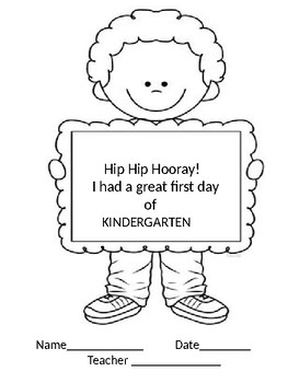 First Day of School Coloring Certificates