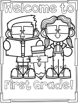 First Day of School Coloring Page Freebie