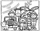 First Day of School Coloring Pages: Jungle/Safari K-2