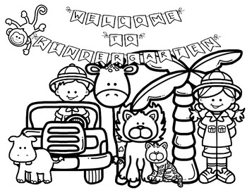First Day Of School Coloring Pages Jungle Safari K 2