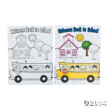 First Day of School Coloring Sheet