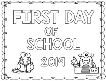 First Day of School Coloring Sheets