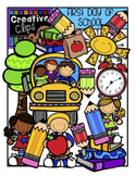 First Day of School {Creative Clips Digital Clipart}