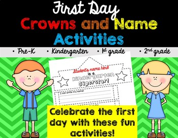 First Day of School Crown and Name Activities