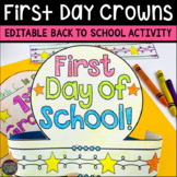 First Day of School Crowns Activity   Back to School Activities