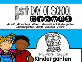 First Day of School Crowns FREEBIE