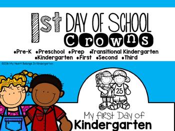 First Day of School Crowns FREEBIE
