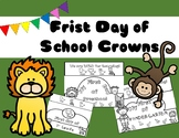 First Day of School Crowns: Jungle/Safari