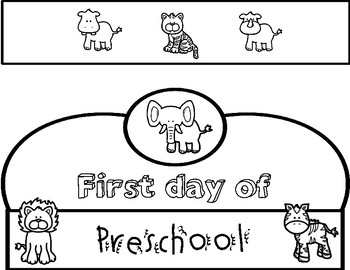 First Day of School Crowns: Jungle/Safari