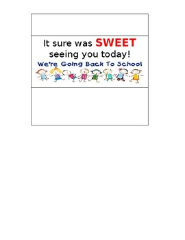First Day of School Customized Hershey Wrapper Bar Note