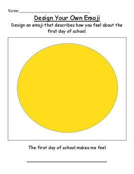 First Day of School Design your own Emoji