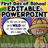 First Day of School Editable PowerPoint
