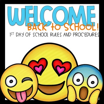 First Day of School Editable PowerPoint Emoji Themed