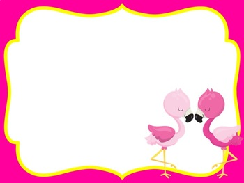 First Day of School Editable PowerPoint Flamingo Themed