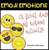 "First Day of School ""Emoji Emotions"" Feelings Activity"