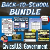 Back-to-School BUNDLE for Secondary CIVICS (U.S. Government)