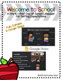First Day of School Expectations Lesson - Editable Presentation in Google Slides