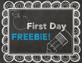 First and Last Day of School FREEBIE! (EDITABLE)