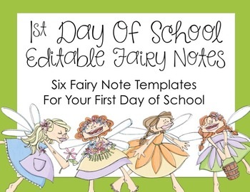 First Day of School Fairy Notes Freebie