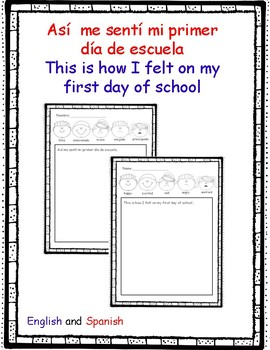 1st Day Of School Feelings Worksheets & Teaching Resources | TpT