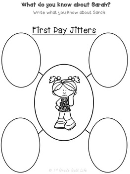 First Day of School Activities / First Day Jitters / Back to school