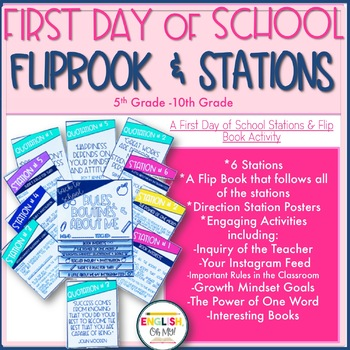 First Day of School Flip Book & Stations, Back to School
