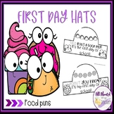 First Day of School Food Puns Hats