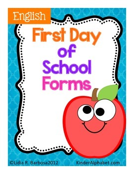 First Day of School Forms- English