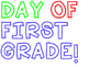 First Day of School - Frame Words