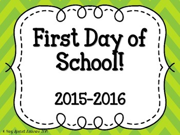 First Day of School Frames